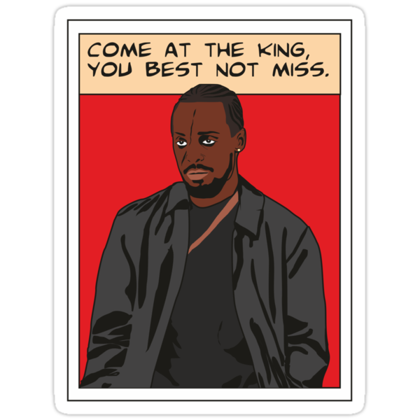 Omar Little as comic, The wire (red) by D4RK0