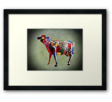 Cow Parades at School Framed Print