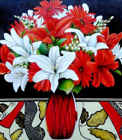 """Fabulously Red (Oil Painting) by Belinda """"BillyLee"""" NYE (Printmaker)"""