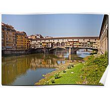 Florence / Ponte Vecchio - Gold Bridge Poster