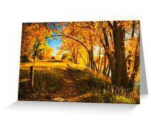 October's Light Greeting Card