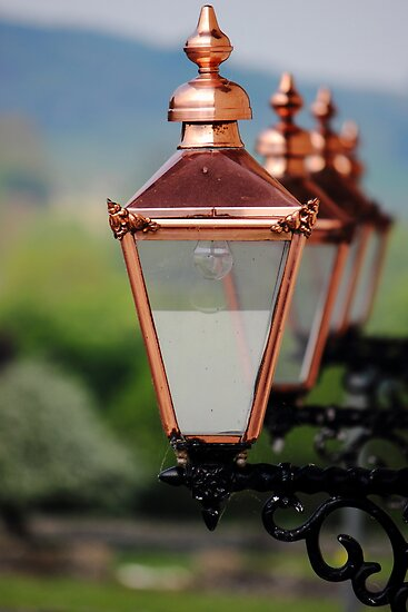 Shiny Street Lamps by John Dunbar