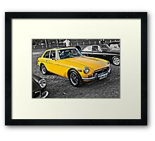 Yellow MG B GT Framed Print
