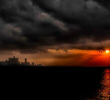 Sunset in Havana by Erik Brede