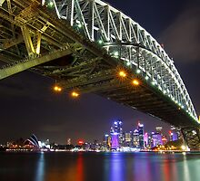 Harbour Bridge, Opera House and City of Sydney by Andi Surjanto