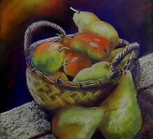 Apples and pears by Sandra  Sengstock-Miller