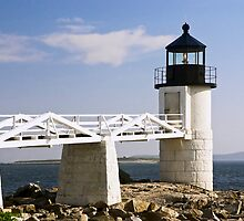 Marshall Point Lighthouse & Causeway, Port Clyde, Maine by Kenneth Keifer