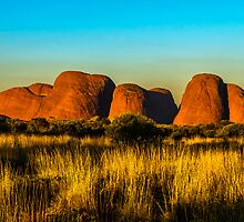 Sunset at The Olgas by Jan Fijolek