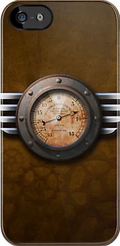 Steam Punk Gauge - iPhone Case by Christopher Herrfurth
