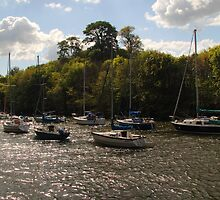 Yachts at Cramond by Tom Gomez