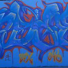 World street graffiti - blue by grafhunter