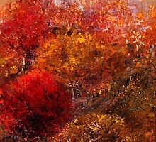 Autumn Orchard by Monica Blatton