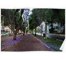 a purple spring foliage, Tel Aviv Poster
