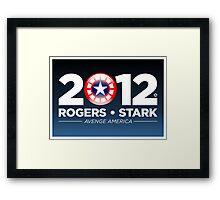 Rogers & Stark 2012 Presidential Campaign Poster Framed Print