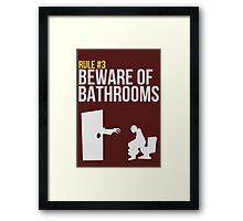 Zombie Survival Guide - Rule #3 - Beware of Bathrooms Framed Print