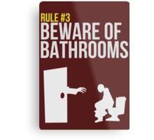 Zombie Survival Guide - Rule #3 - Beware of Bathrooms Metal Print