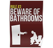 Zombie Survival Guide - Rule #3 - Beware of Bathrooms Poster