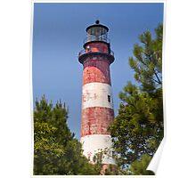 Assateague Island LIghthouse, Virginia Poster