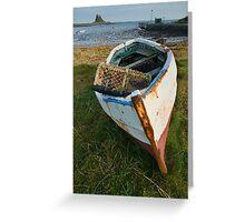 Lindisfarne boat Greeting Card