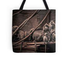 Silver leaf Monkeys in the style of Dorothea Lange Tote Bag