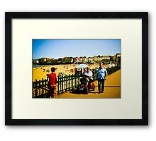 Woman with Poodles Framed Print
