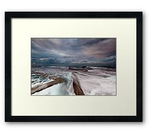 Walk the Line - Mona Vale, NSW Framed Print