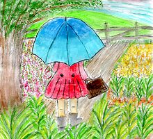 Little Umbrella Girl by Hbeth