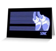 Sonic Moonwalker (Print Version) Greeting Card