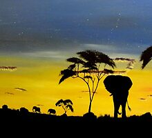 African Sunset by RalstonFineArt
