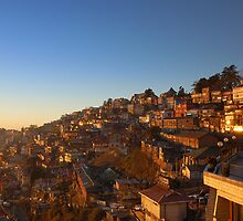 Shimla Bathing in Sunlight  by Abhinav