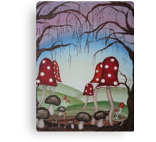 Mystical Mushrooms Canvas Print