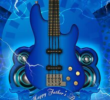 Rock Guitar Father's Day Greeting Card by Moonlake