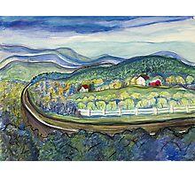 Blue Ridge farm Photographic Print