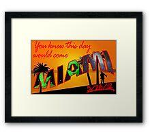 Miami - Zombie Apocalypse? Framed Print