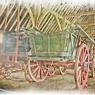 Wagons In A Barn by Dave Godden