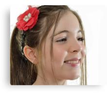 Ten year old singer/performer Canvas Print