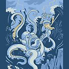 King Neptune - iPhone Case by drawsgood