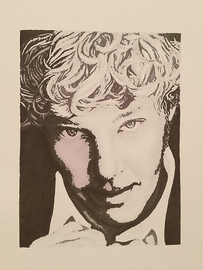 Benedict Cumberbatch sketch (two-tone) by cumberlover