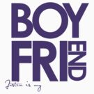 Justin Is My Boyfriend (Purple) by ElleeDesigns