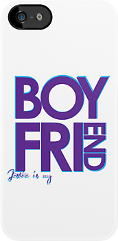 Justin Is My Boyfriend (Blue & Purple) by ElleeDesigns