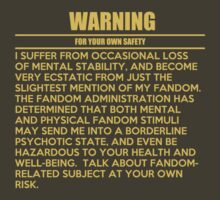 General fandom warning by cumberqueen