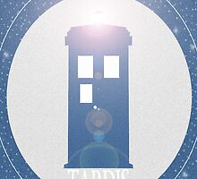 TARDIS iphone case by MrSaxon