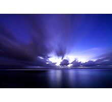 Blue Hues over Trannies Photographic Print