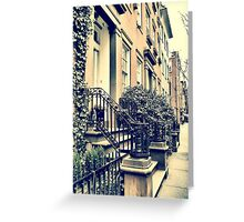 Greenwich Village Houses Greeting Card