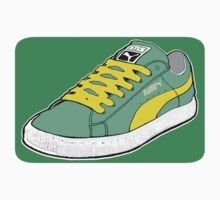 PUMA SE: LIGHT GREEN W/ YELLOW LACES by S DOT SLAUGHTER