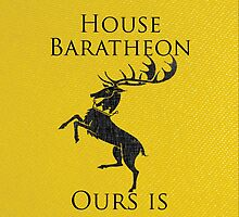 House Baratheon iPhone Case by Alexandra Grant