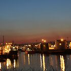 Aberdeen Harbour At Night by Darrenadie