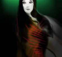 photoshop doodles= green girl by TheLostArt