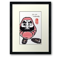 The Snowshoer (Daruma Doll series) Framed Print