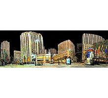 New-York Rockfeller Plaza  (Comic Look) Photographic Print